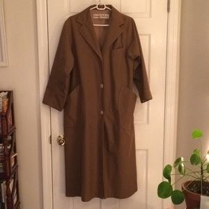 Vintage 1970s Bonnie Cashin Wool Lined Canvas Coat